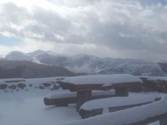 Cahecho nevado. Vista desde el mirador