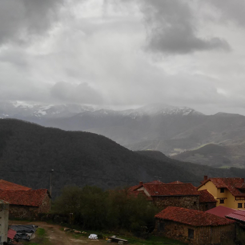 Llegando la nieve a Cahecho