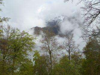 Peña Sagra con un poc de nieve recien caida