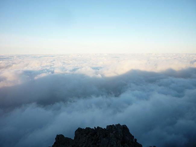 Mar de nubes desde el Pico Paráis